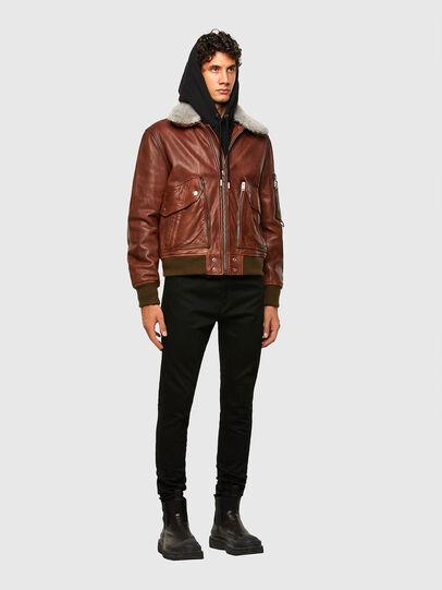 Diesel - L-STEPHEN, Brown - Leather jackets - Image 6