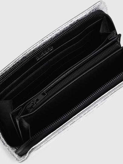Diesel - GRANATO LCLS, Silver - Zip-Round Wallets - Image 3