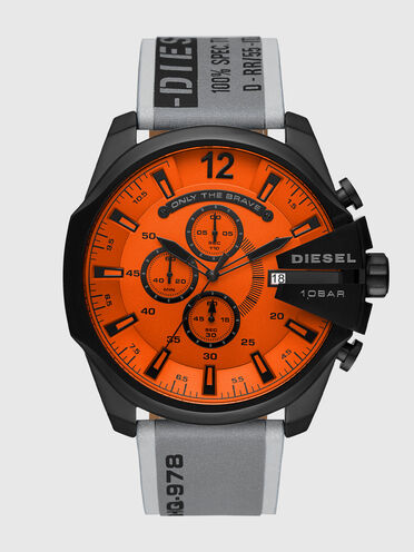 Mega Chief chronograph gray stainless steel watch
