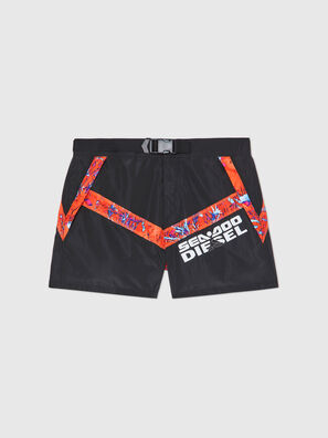 BMBX-CAYBAYDOO, Black/Orange - Swim shorts