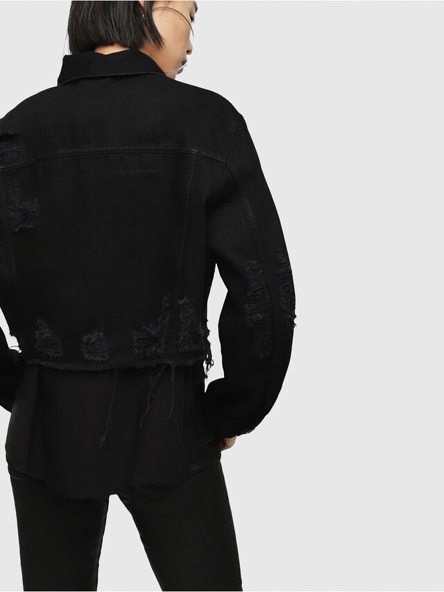 Diesel - DE-POPPY, Black Jeans - Denim Jackets - Image 2