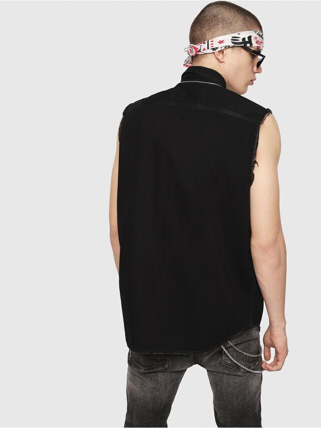 Diesel - D-KIRU, Black - Denim Shirts - Image 2