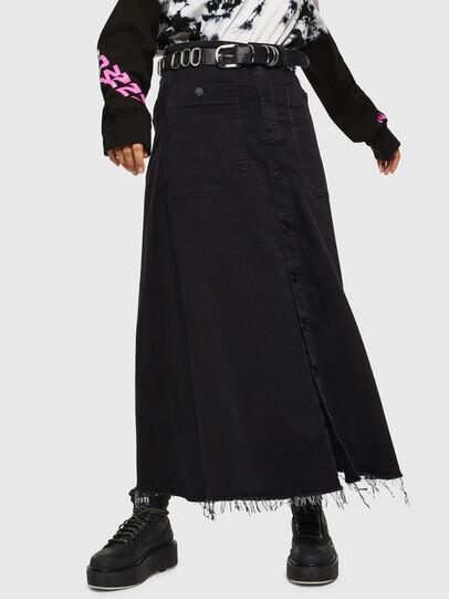 Diesel - D-RHITA JOGGJEANS, Black/Dark grey - Skirts - Image 1