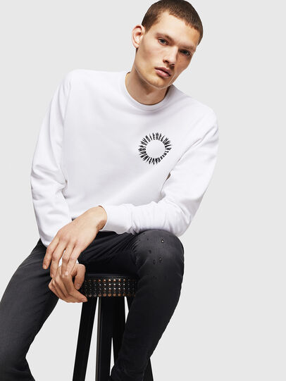 Diesel - S-GIR-A3, White - Sweaters - Image 4