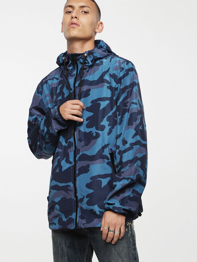 Diesel - J-ACOUSMATIC, Melange Blue - Jackets - Image 1