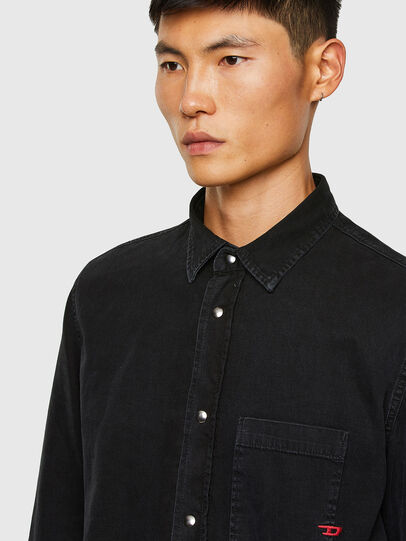 Diesel - D-WEAR-B1, Black - Denim Shirts - Image 3