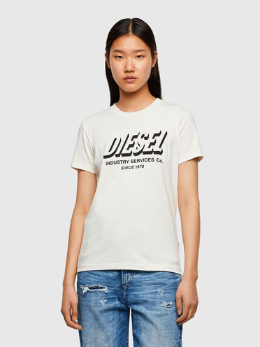 Green Label T-shirt with printed logo