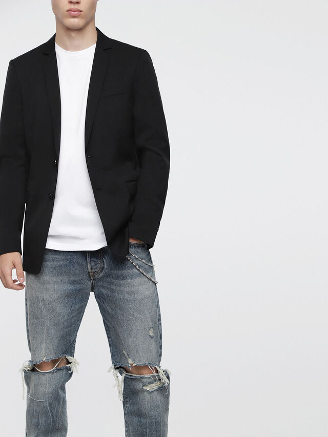 Diesel - J-NOIZE, Black - Jackets - Image 1