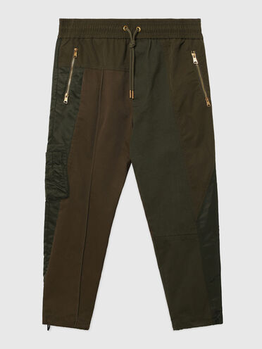 Pants in twill, canvas and satin