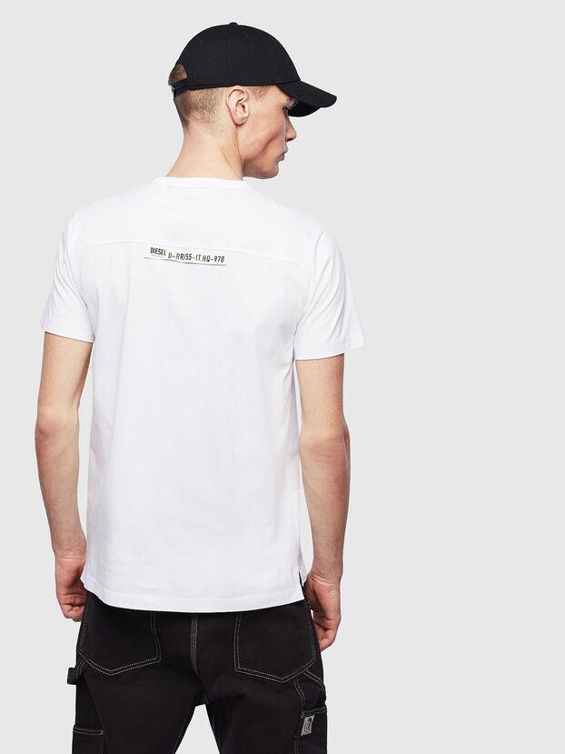 T-RABEN-POCKET, White - T-Shirts
