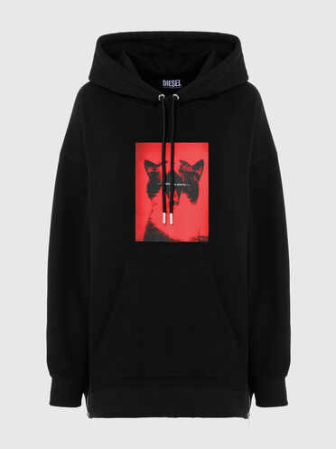 Green Label hoodie with photo print