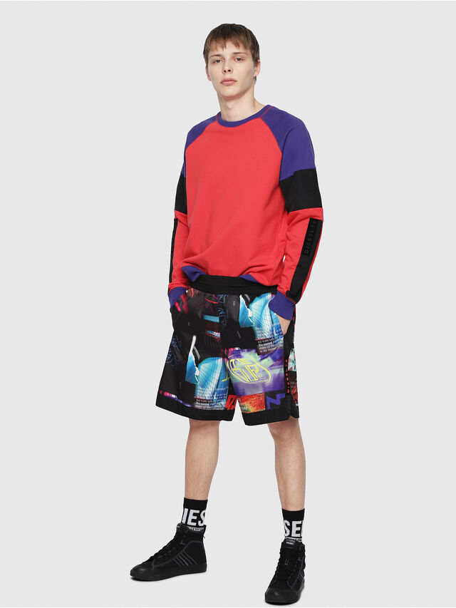 Diesel - P-KUMI-PRINT, Multicolor/Black - Shorts - Image 5