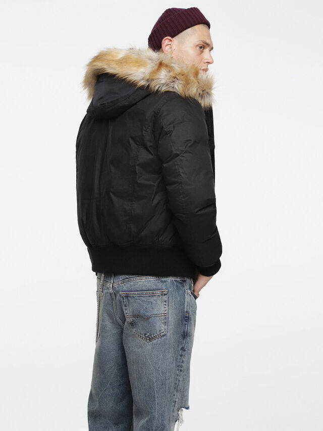 Diesel - W-BURKE, Black - Winter Jackets - Image 2