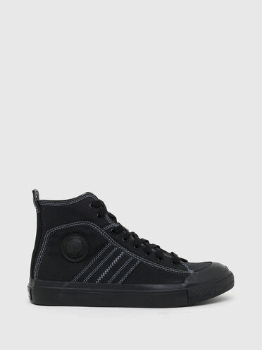 Mid top sneakers in bicolour canvas