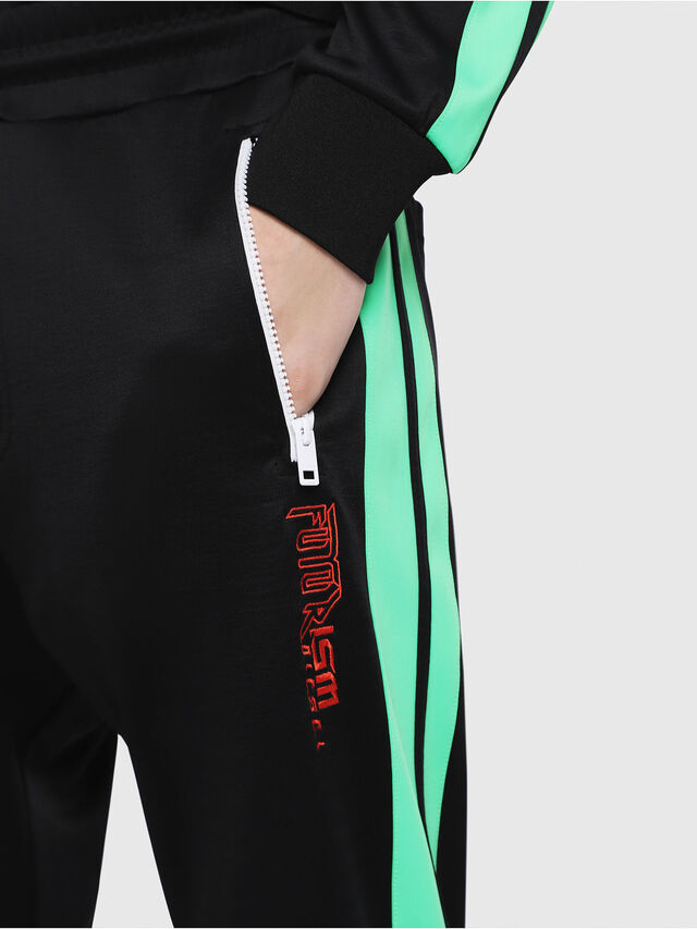 Diesel - P-RUSSY-BAND, Black/Green - Pants - Image 3
