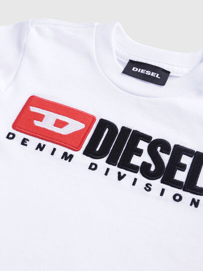 Diesel - TJUSTDIVISIONB, White - T-shirts and Tops - Image 3