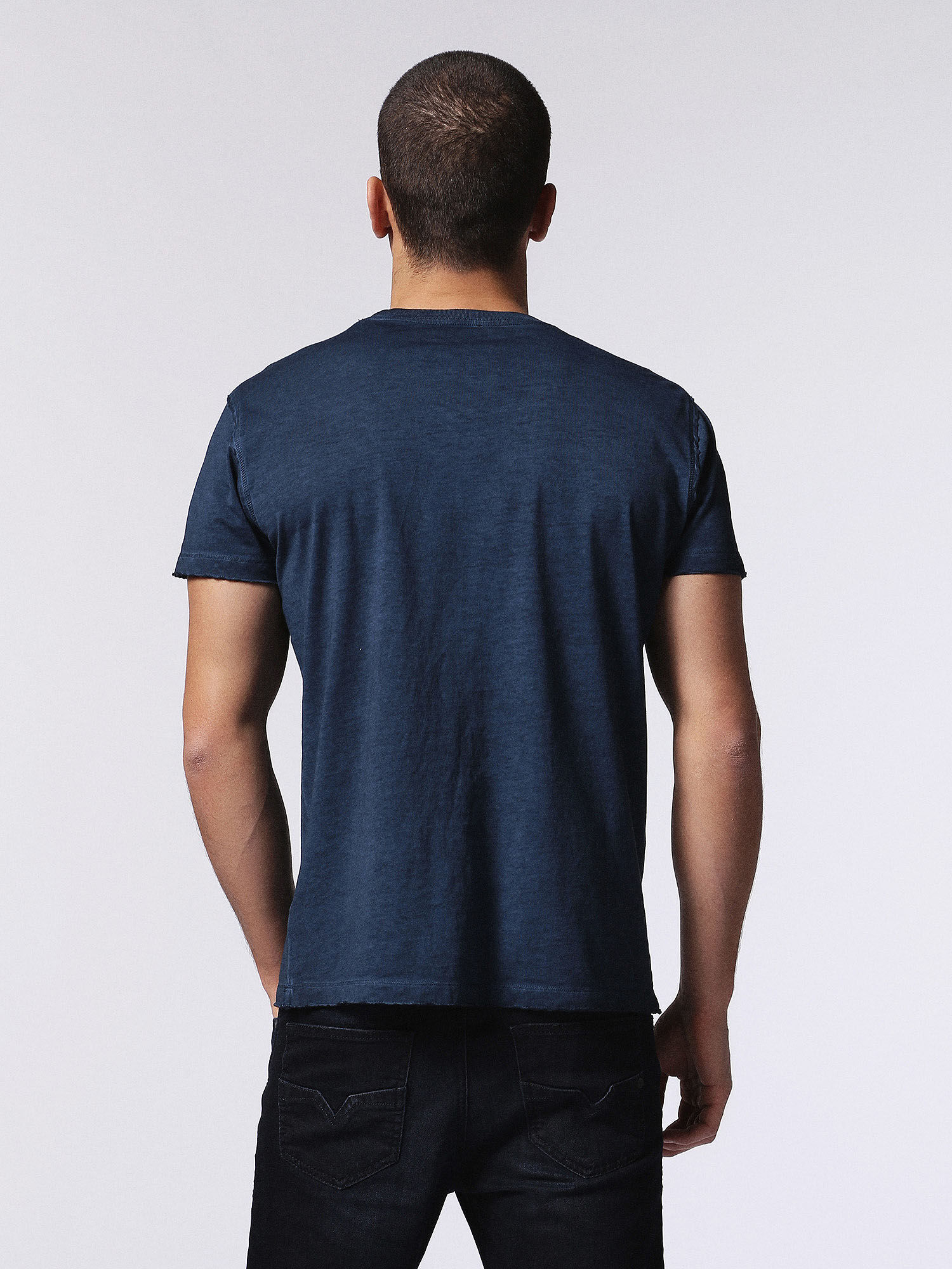 00SW1U0KANH T-Shirts Man T-DIEGO-MM by Diesel Blue