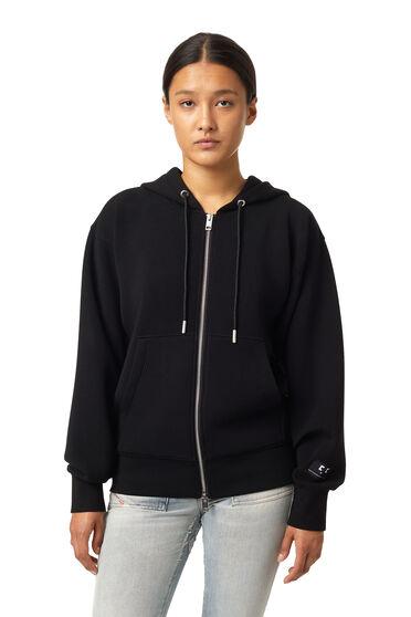 Zip-up hoodie in stretch scuba