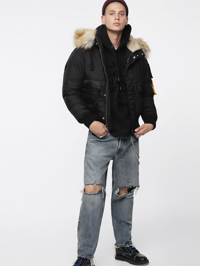 Diesel - W-BURKE, Black - Winter Jackets - Image 6
