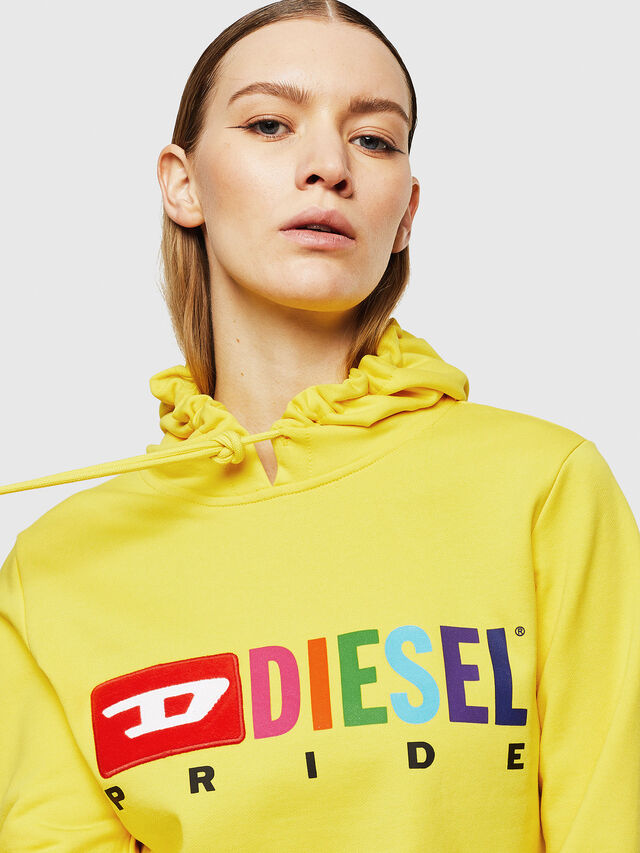 Diesel - UFLT-BRANDALWZ, Yellow - Sweaters - Image 3