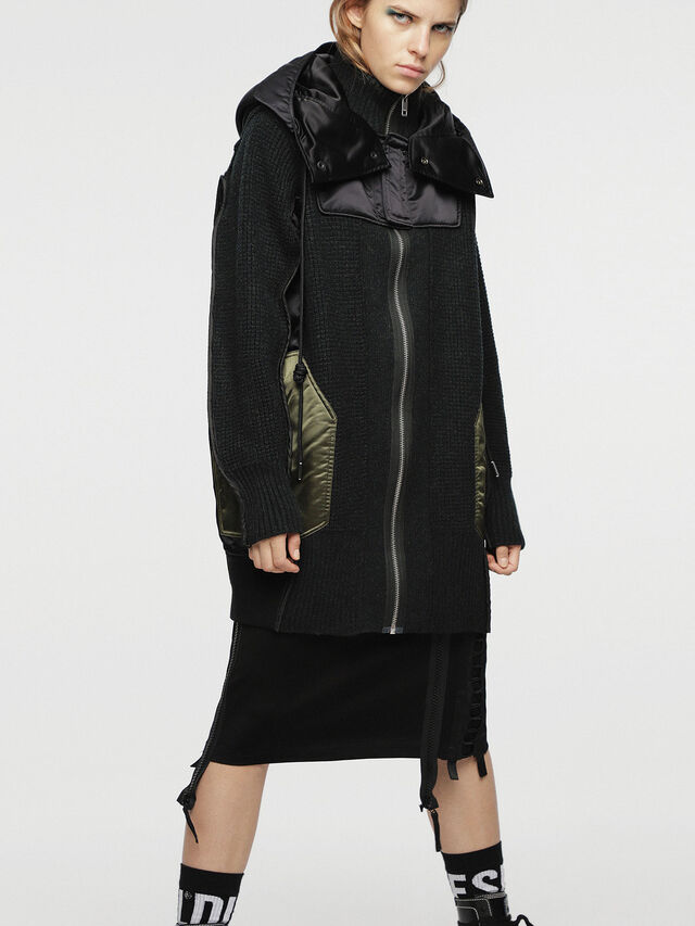 Diesel - M-LIF-FL, Black - Winter Jackets - Image 1