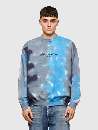 Diesel - S-MART-E4, Grey/Blue - Sweaters - Image 1