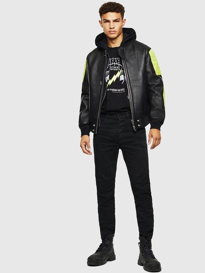 Diesel - L-BRANDO, Black - Leather jackets - Image 7