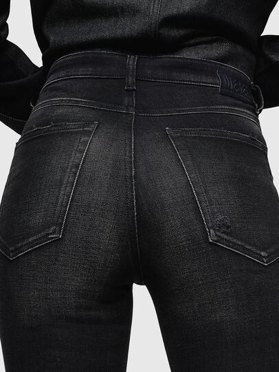 Diesel - Babhila High 0092B, Black/Dark grey - Jeans - Image 5