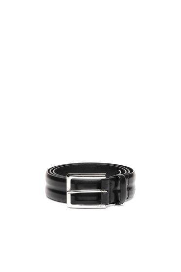 Ridged belt in padded leather