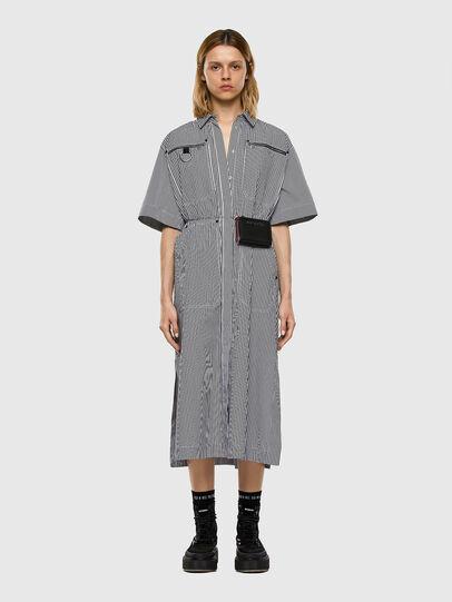 Diesel - D-LIZETH-A, Black/White - Dresses - Image 4