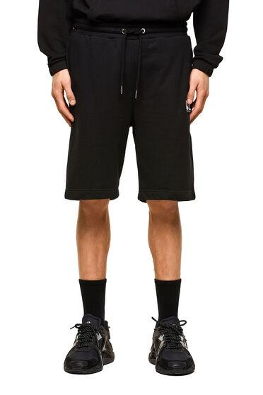 Sweat shorts with neon logo print