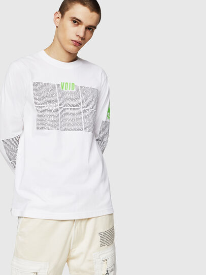Diesel - T-JUST-LS-NEW, White - T-Shirts - Image 1
