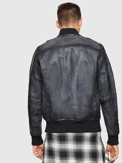 Diesel - L-OIUKI, Black - Leather jackets - Image 2