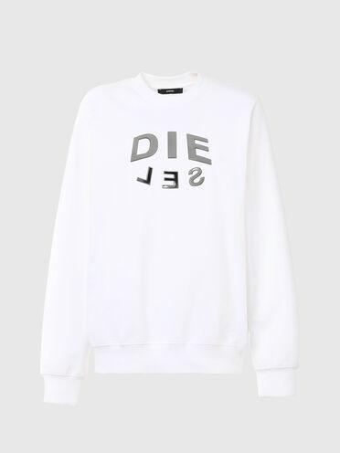 Sweatshirt with metallic DIE-SEL print