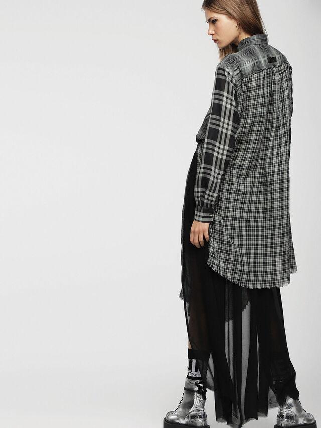 Diesel - D-BAGGY, Gray/Black - Dresses - Image 2