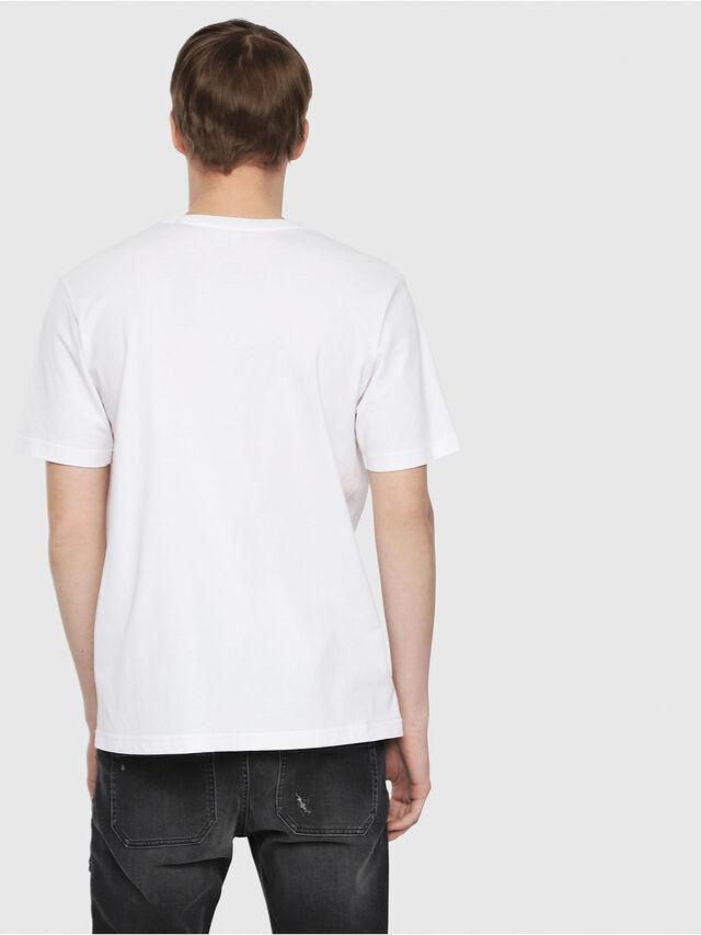 35750678ba57ac T-JUST-DIE Men: Logo T-shirt with fluo accents | Diesel