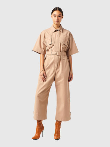Jumpsuit in compact twill