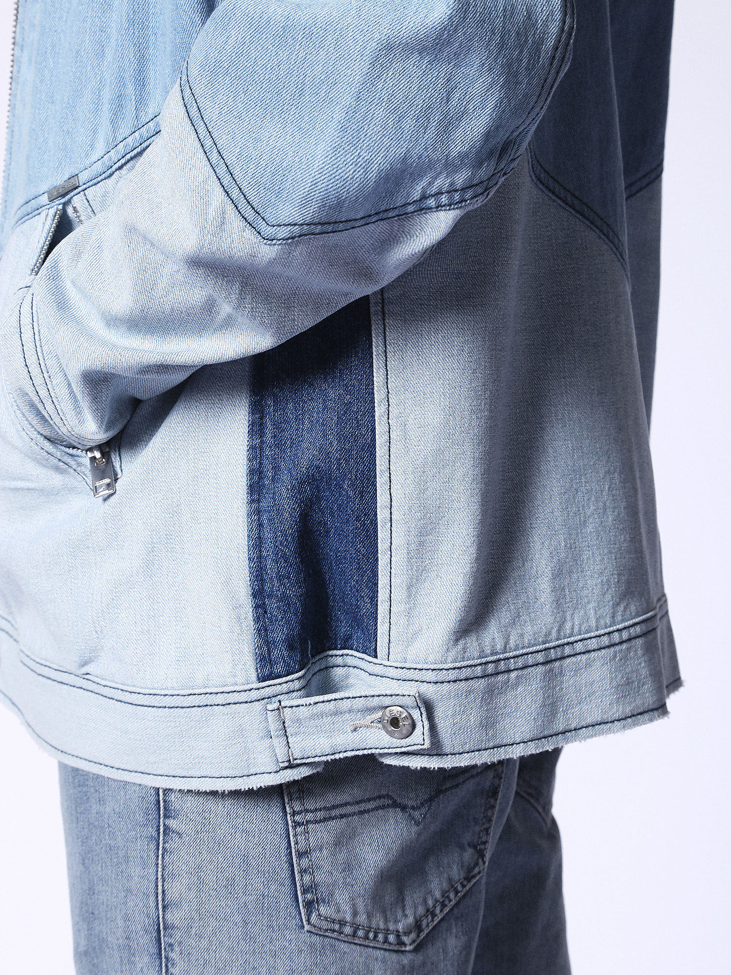 00SX250PAPG Jackets Man D-OLAF by Diesel Blue jeans