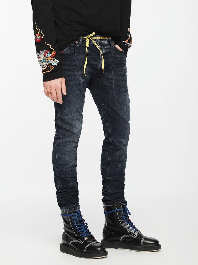 Diesel - Sleenker 084VR, Black/Dark grey - Jeans - Image 3