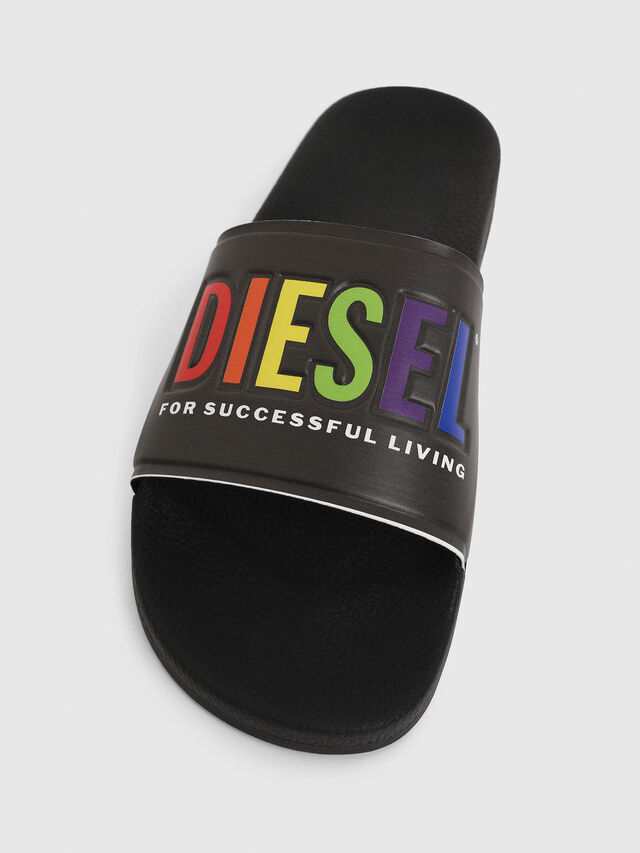 Diesel - SA-VALLA, Black - Slippers - Image 5