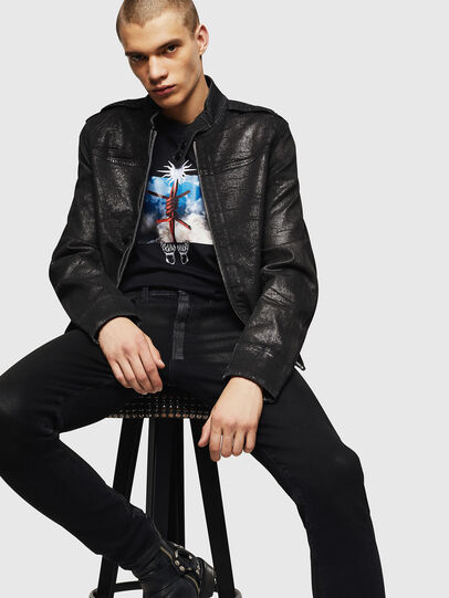 Diesel - D-JEI-SP JOGGJEANS, Black - Denim Jackets - Image 4