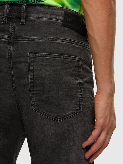Diesel - D-VIDER JoggJeans® 009FZ, Black/Dark grey - Jeans - Image 4
