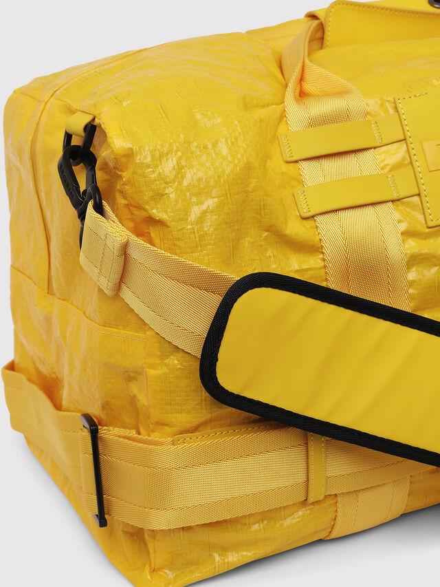 Diesel - M-CAGE DUFFLE M, Yellow - Travel Bags - Image 3