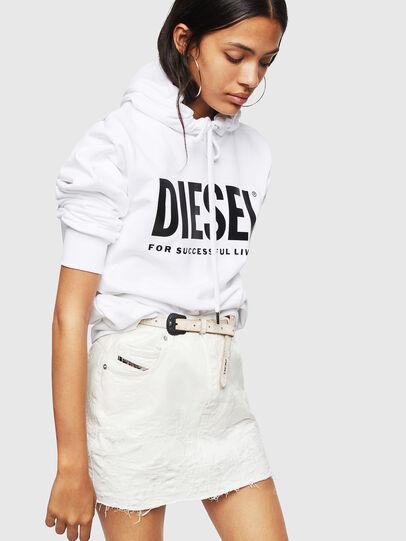 Diesel - F-GIR-HOOD-DIV-LOGO-, White - Sweaters - Image 4