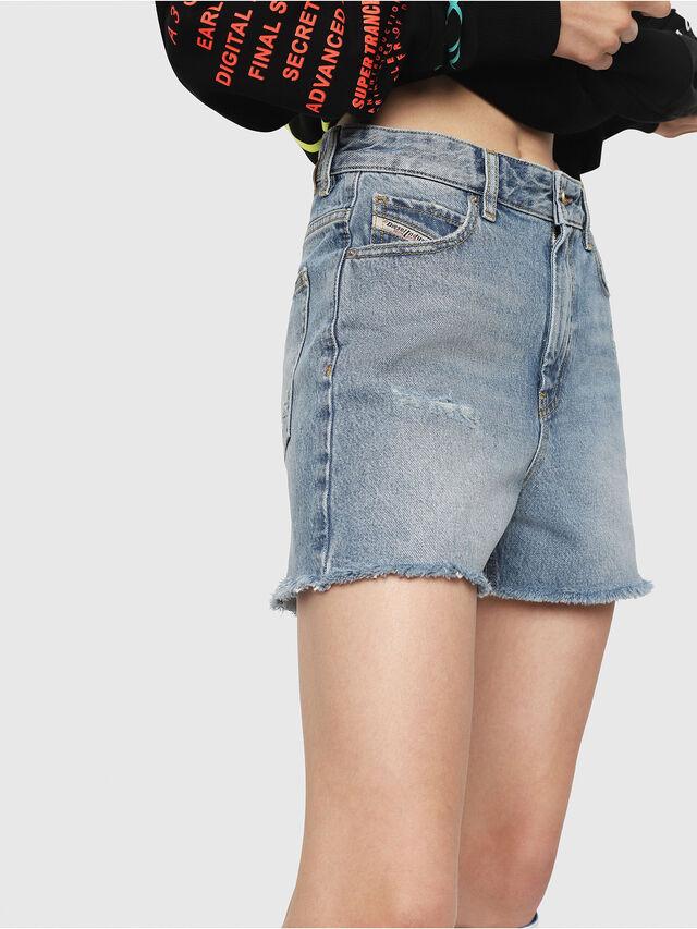dd39b96b2df DE-EISELLE Women: Frayed midi shorts in denim | Diesel