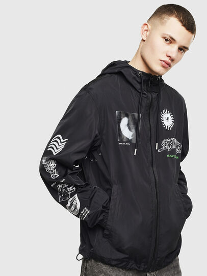 Diesel - J-HEAD, Black - Jackets - Image 1