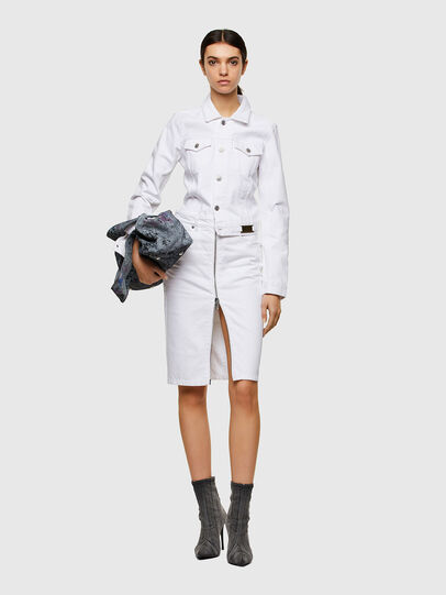 Diesel - DE-PENCIL-ZIP, White - Skirts - Image 5