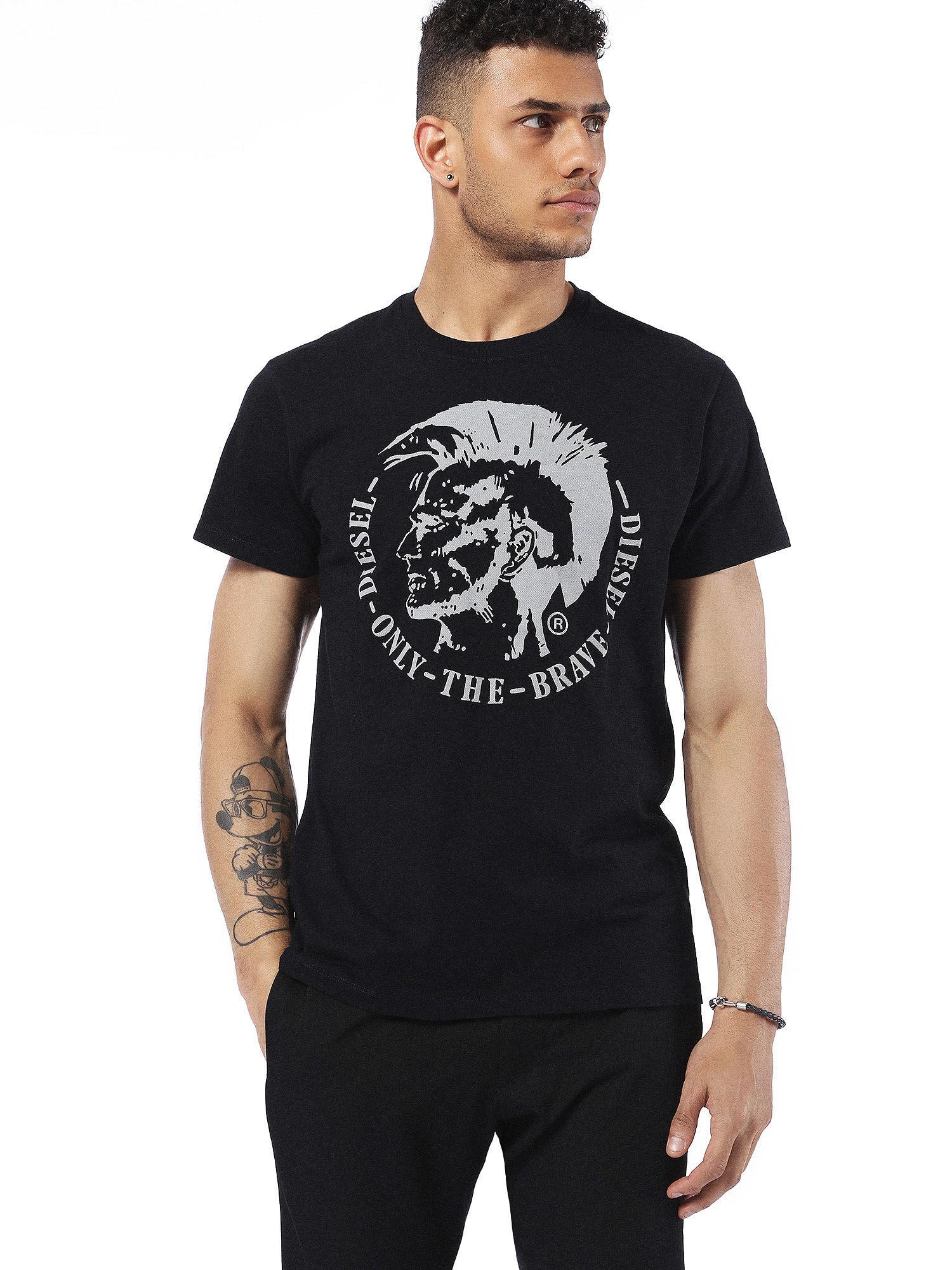 00SQXC0091B T-Shirts Man T-DIEGO-FO by Diesel Black