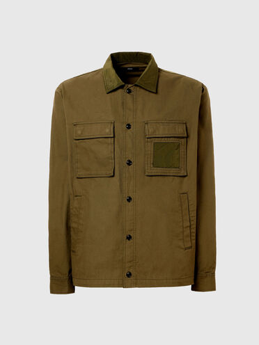 Shirt in twill and nylon