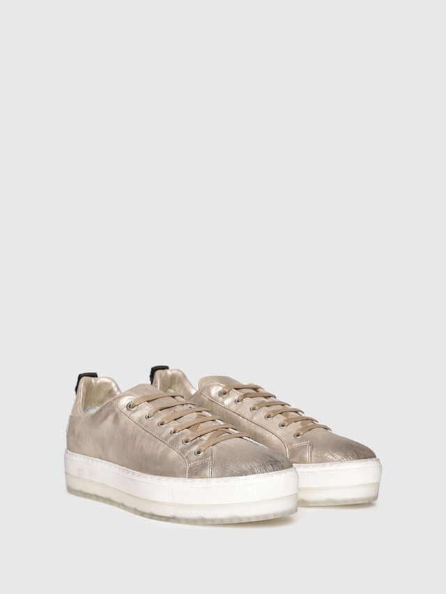 Diesel - S-LENGLAS LOW LACE, Gold - Sneakers - Image 2